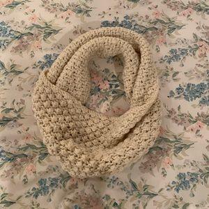Talbots cream infinity scarf